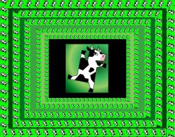 dancing cow background by crazyllama
