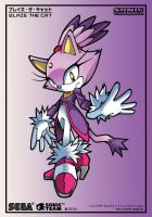 Blaze the cat (Sonic Channel Colouring Page) by leonarstist06