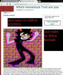 Results from a Homestuck Troll quiz. by Britus-Kurosaki