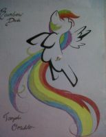 My sisters' Birthday present (Rainbow Dash) by enamorado16