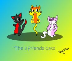 The 3 friends cats by 199800