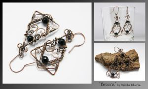 Breena- wire wrapped earrings by mea00