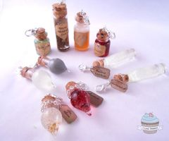 Potter inspired Potions by ilikeshiniesfakery