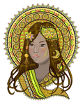 Mandaluna  Daughter Of The Moon By Fractalbee by bbvzla