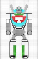 Wheeljack X Stitch Pattern by crawdadEmily
