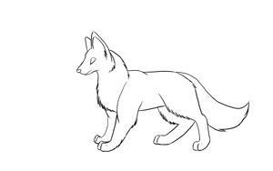 Free Wolf Lineart by xArcox