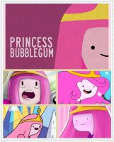 Princess Bubblegum Collage by voltar517