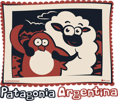 Sheep and penguin t-shirt by Kna