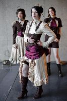 Steampunk trio by silentplace