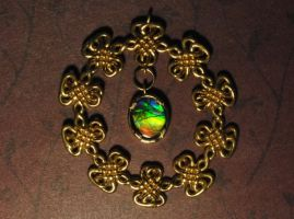 Ammolite Celtic Knot Pendant by dfoley75