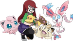 Commission - Amelia's Pokemon Team by Tails19950