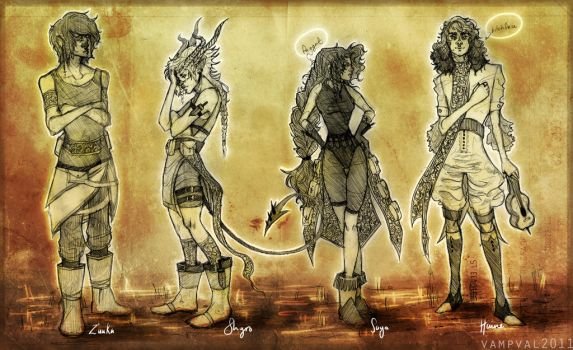 Cast of Aitios. by Vampval