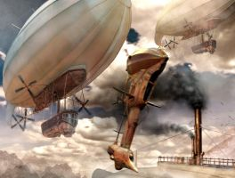 Airship Chase by LucidDesignFX