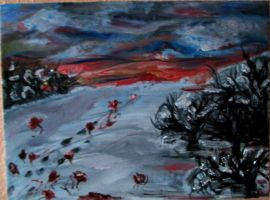 Winter, blood and roses by theunearthly
