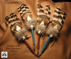 TEGAQUITHA Feather Quill Pens by ChaeyAhne