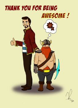 The Yogscast : Xephos and Honeydew by SylFr