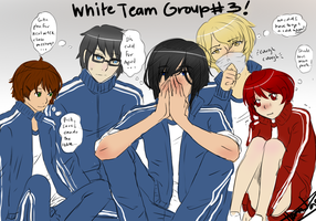 R-G: White Team Group 3! by HanaPon