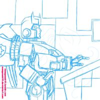 TF: Prowl Sketch by Masqueadrift