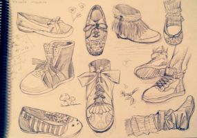 Sketch - shoes by Priscila-Mizu33