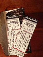 Bullet For My Valentine Concert Tickets XD by Panicagelfish