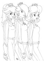Peach, Rosalina and Daisy by Ave606
