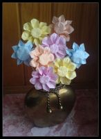 Origami bouquet by lonely--soldier