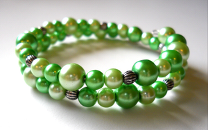Olivia Green Bracelet by LypticDesigns