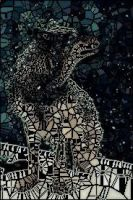{ Stain Glass Window } Wolf by nightstrikers