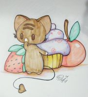 Momocheet Protects Her Sweets by lafhaha