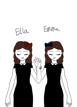 Ella and Emma the twins by Faye-The-Ghost