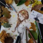 Autumn Melancholy in progress by Zindy