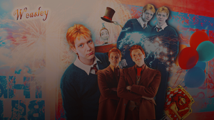 Fred and George Wallpaper by SauceRetro