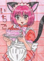 Ichigo Neko Waitress by SailorUsagiChan