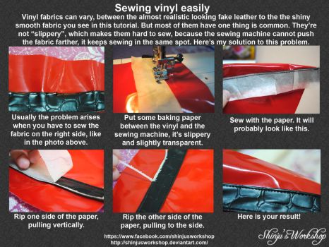 Sewing Vinyl Tutorial by ShinjusWorkshop