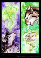 ACEO Cards: Life and Death by MoonsongWolf