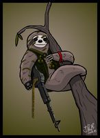 Sloth Commando by Gravedrinker