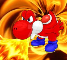 The Fire Yoshi by Nocta-Link