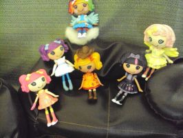 my little pony mini lalaloopsy by Phoenixwingcreations