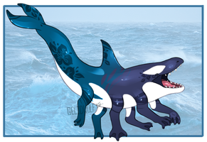Character Design Entry: Killer Whale Dinomander by Gelidwolf
