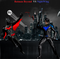 Batman Beyond Vs NightWing by Tony-Antwonio