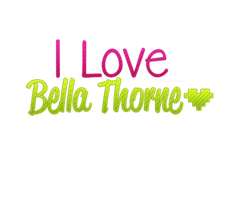 I love Bella Thorne Texto png! by NayelisEditions