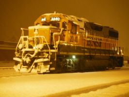 BNSF 2340 Snowy Night by TomRedlion