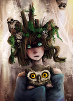 Crazy Owl Girl by KristinnS