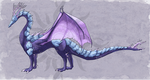 [Open Auction] Adoptable: Coral Dragon by Tekila-onRice