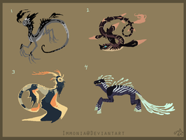 Mixed Creature Adopts 88 [Point Option Available] by Adopt-Monstar