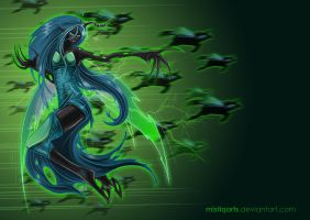 Queen Chrysalis Wallpaper by Mistiqarts