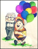 Russell and Mr. Fredricksen by heeyjayp17