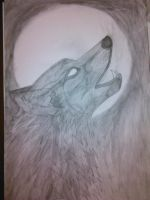 Wolf howl by daylover1313