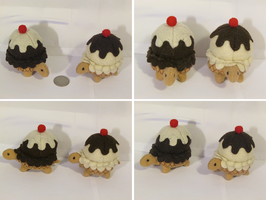 Turtle Plush: Vanilla and Chocolate by Fiomay