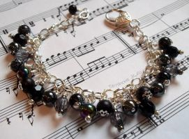 Black and silver bracelet by TerraNovaJewels